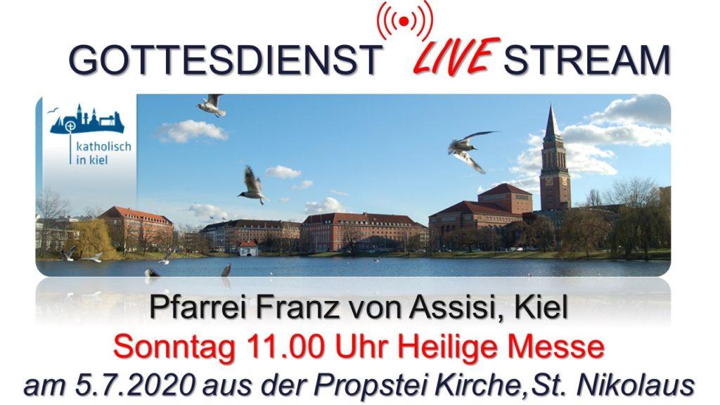 Sonntag, 5.7., 11:00 Uhr Livestream: Hl. Messe in St. Nikolaus