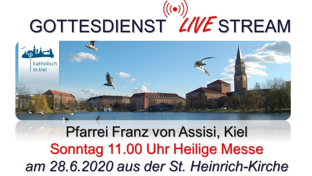Sonntag, 28.6., 11:00 Uhr Livestream: Hl. Messe in St. Heinrich